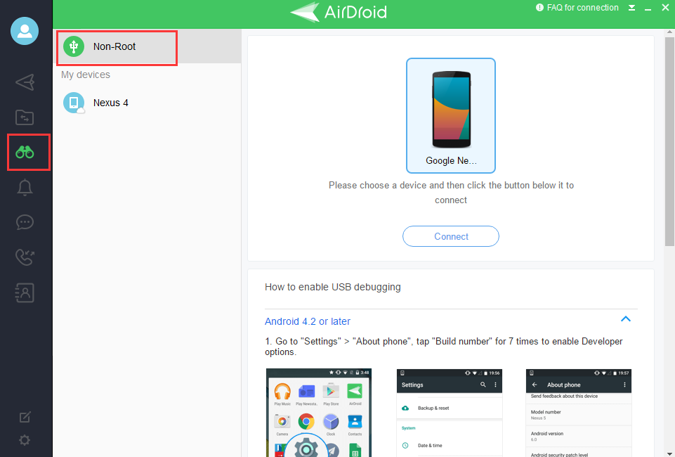 How to use AirMirror on non-root devices? – AirDroid Support Center